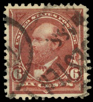 US Stamps Values Scott #271: 1895 6c Garfield. Daniel Kelleher Auctions, Jan 2015, Sale 663, Lot 1534