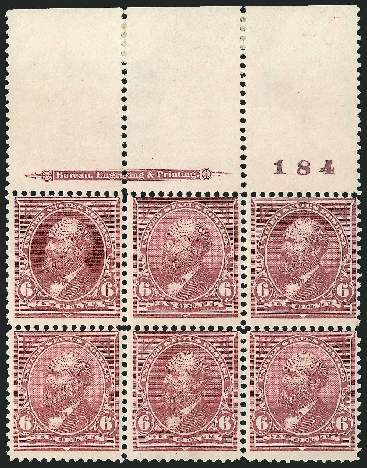 Values of US Stamp Scott Catalog # 271 - 1895 6c Garfield. Robert Siegel Auction Galleries, Nov 2014, Sale 1084, Lot 3603