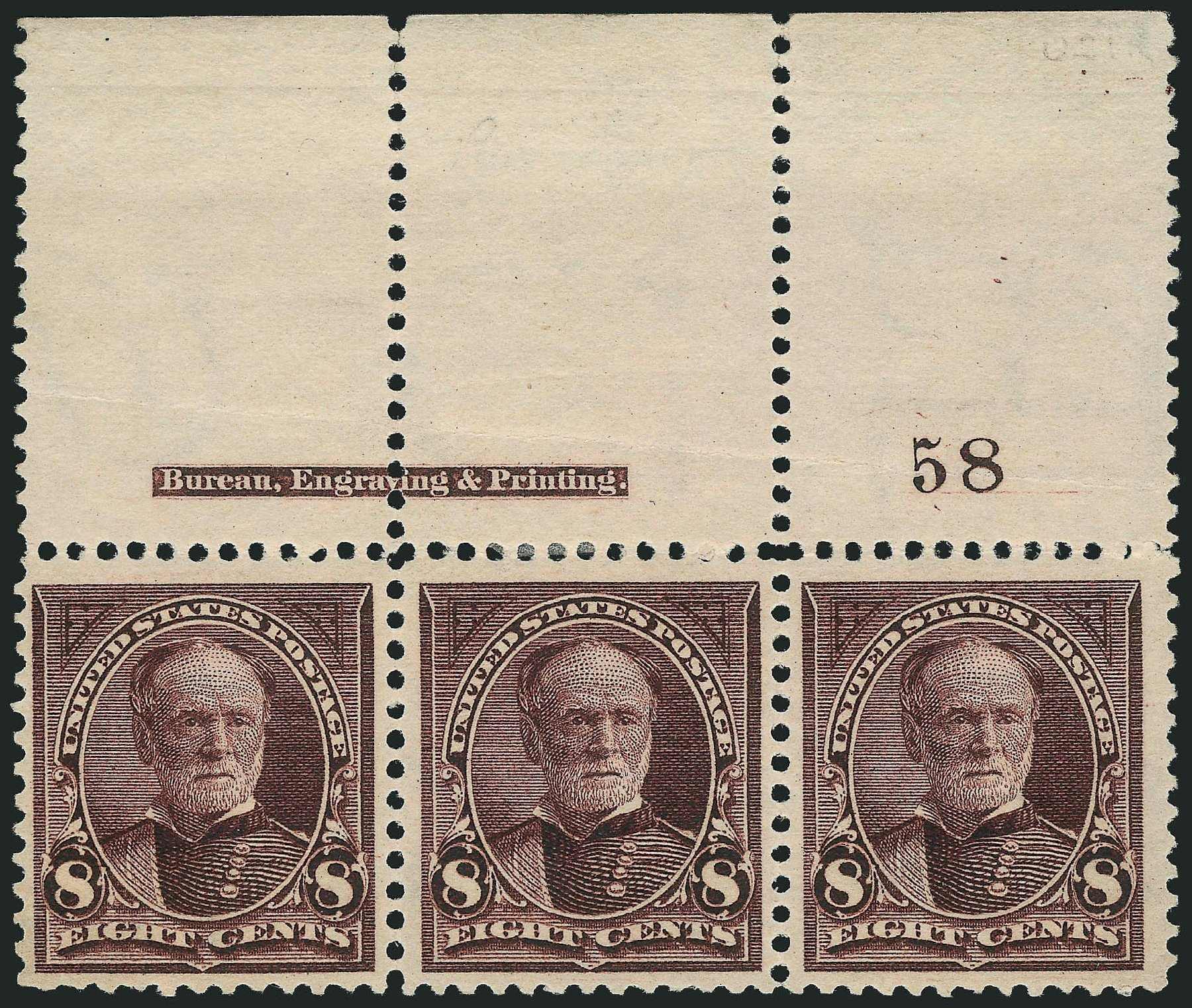 Price of US Stamps Scott Cat. #272: 1895 8c Sherman. Robert Siegel Auction Galleries, Nov 2014, Sale 1084, Lot 3610