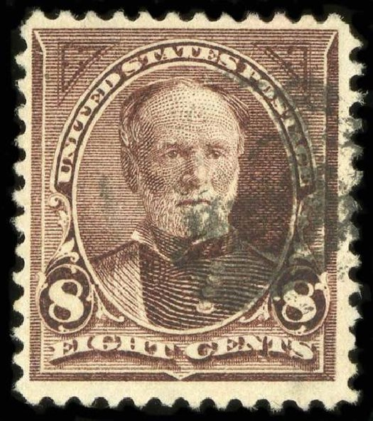 Values of US Stamp Scott Catalogue #272: 1895 8c Sherman. Spink Shreves Galleries, Jul 2015, Sale 151, Lot 222