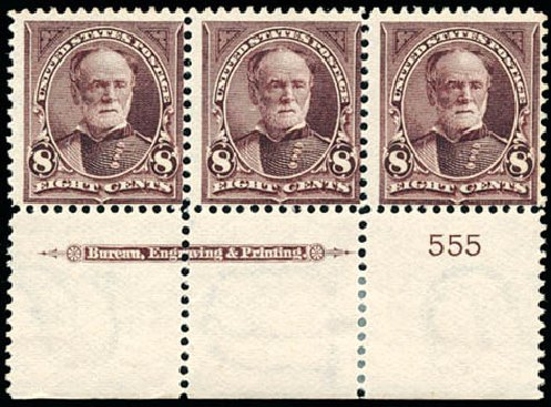 Costs of US Stamps Scott Cat. 272 - 1895 8c Sherman. Schuyler J. Rumsey Philatelic Auctions, Apr 2015, Sale 60, Lot 2753