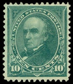US Stamp Value Scott Catalogue #273 - 1895 10c Webster. Daniel Kelleher Auctions, May 2014, Sale 653, Lot 2187