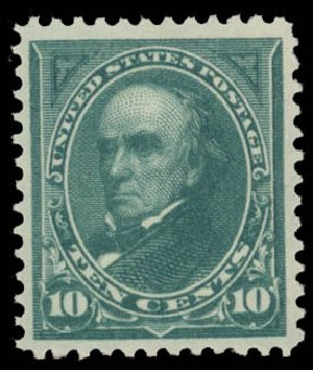Value of US Stamps Scott Cat. #273 - 10c 1895 Webster. Daniel Kelleher Auctions, May 2015, Sale 669, Lot 2788