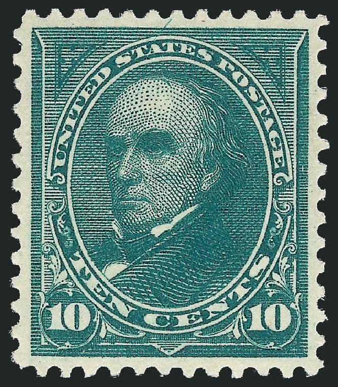 US Stamps Value Scott Cat. #273 - 1895 10c Webster. Robert Siegel Auction Galleries, Feb 2015, Sale 1092, Lot 1208