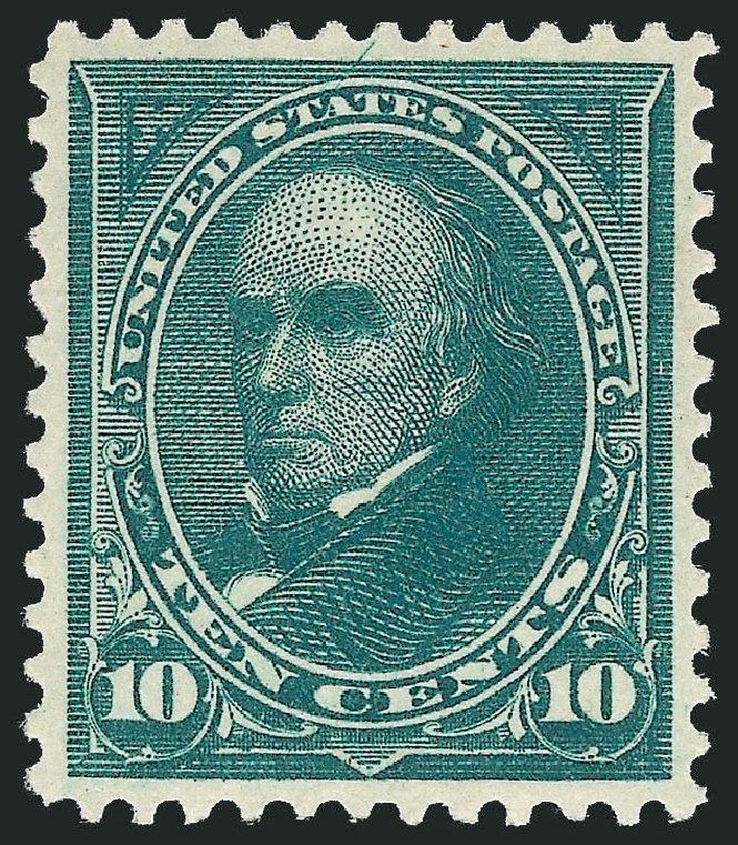 US Stamps Value Scott Cat. #273 - 1895 10c Webster. Robert Siegel Auction Galleries, Feb 2015, Sale 1092, Lot 1208