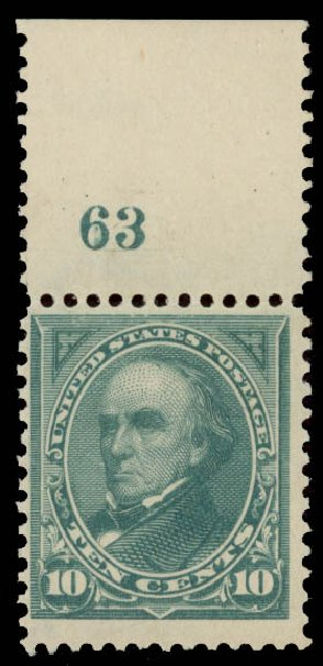 Costs of US Stamps Scott Catalogue 273: 1895 10c Webster. Daniel Kelleher Auctions, May 2015, Sale 669, Lot 2789