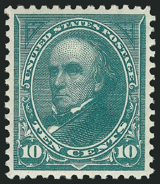 US Stamps Values Scott Catalog #273: 10c 1895 Webster. Robert Siegel Auction Galleries, Feb 2015, Sale 1092, Lot 1209