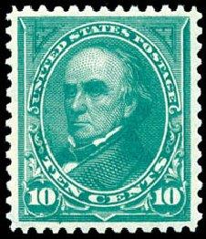 US Stamps Prices Scott Catalog 273: 1895 10c Webster. Schuyler J. Rumsey Philatelic Auctions, Apr 2015, Sale 60, Lot 2264