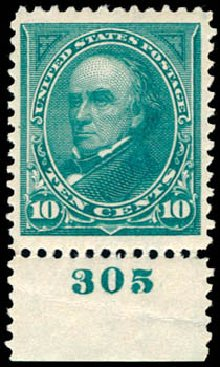 Price of US Stamp Scott Catalog # 273 - 10c 1895 Webster. Schuyler J. Rumsey Philatelic Auctions, Apr 2015, Sale 60, Lot 2754