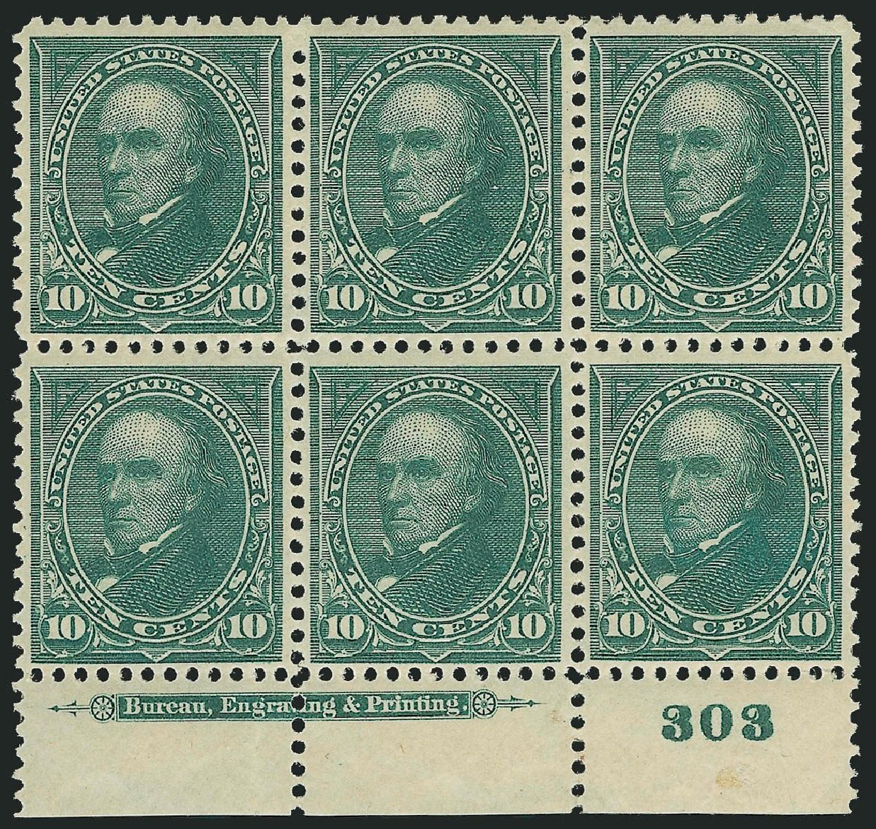Costs of US Stamps Scott Catalog #273 - 10c 1895 Webster. Robert Siegel Auction Galleries, Nov 2014, Sale 1084, Lot 3614