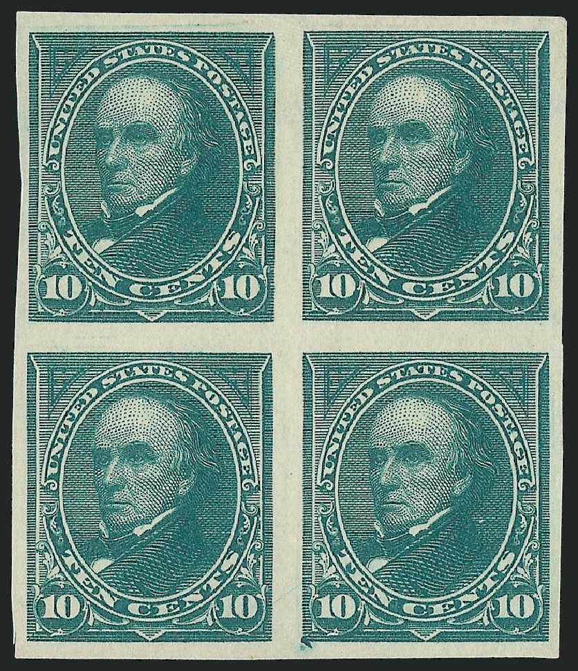 Value of US Stamps Scott Cat. 273 - 1895 10c Webster. Robert Siegel Auction Galleries, Apr 2015, Sale 1096, Lot 474