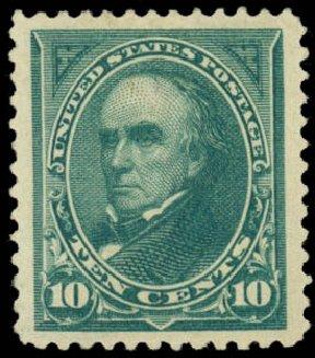 US Stamp Value Scott Cat. #273 - 1895 10c Webster. Daniel Kelleher Auctions, Jan 2015, Sale 663, Lot 1535