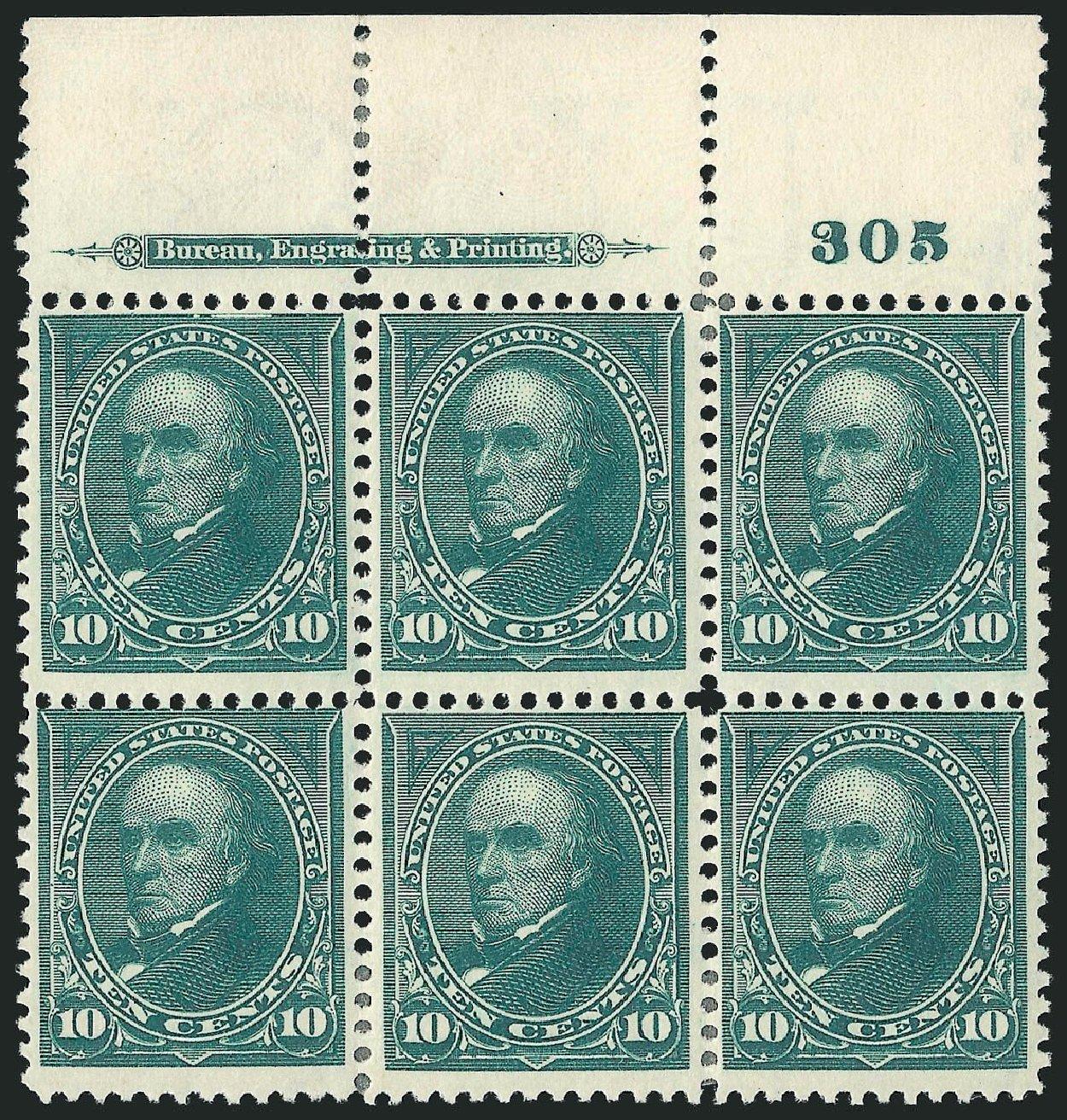 Prices of US Stamp Scott # 273: 10c 1895 Webster. Robert Siegel Auction Galleries, Nov 2014, Sale 1084, Lot 3613
