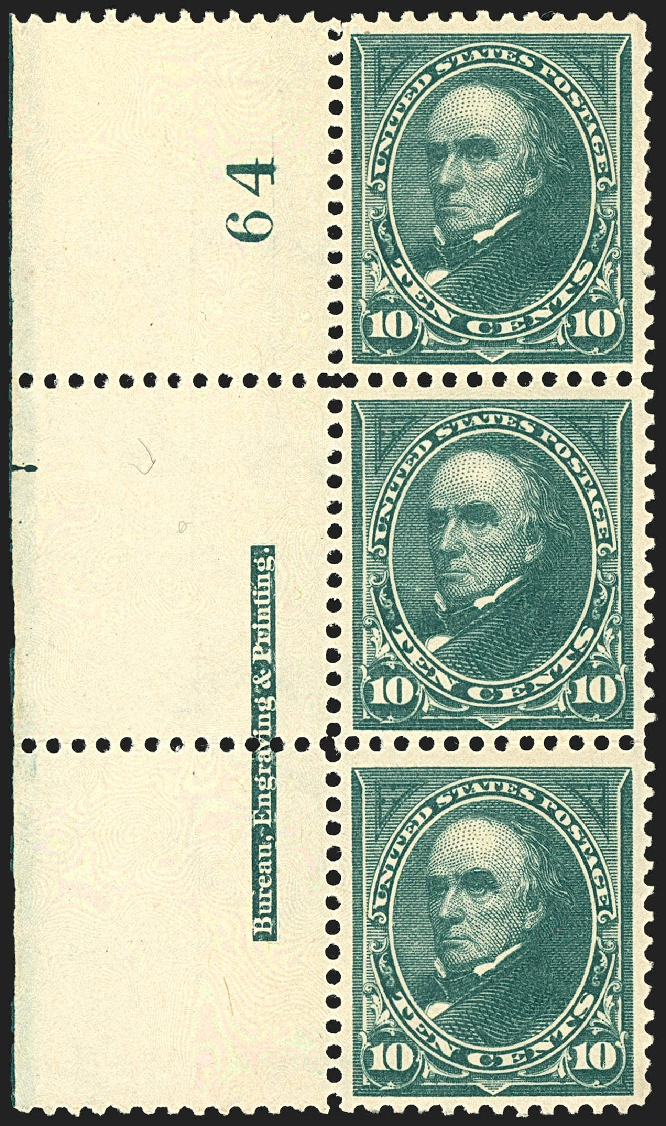 Prices of US Stamp Scott Cat. # 273: 10c 1895 Webster. Robert Siegel Auction Galleries, Jul 2015, Sale 1107, Lot 363