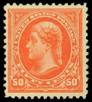 Prices of US Stamps Scott Catalog 275 - 50c 1895 Jefferson. Daniel Kelleher Auctions, Dec 2014, Sale 661, Lot 238