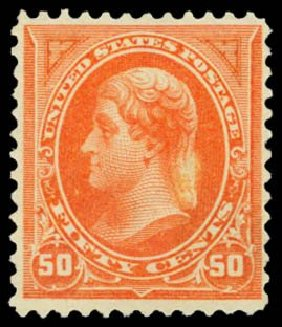 Cost of US Stamp Scott Cat. # 275 - 50c 1895 Jefferson. Daniel Kelleher Auctions, Dec 2014, Sale 661, Lot 239