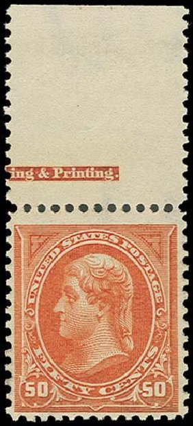 Costs of US Stamps Scott #275: 50c 1895 Jefferson. H.R. Harmer, Oct 2014, Sale 3006, Lot 1290