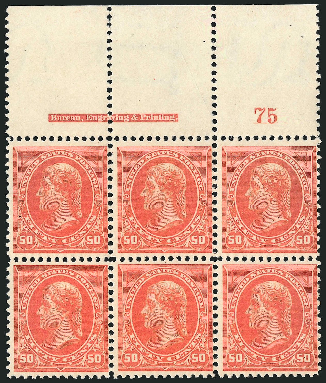 US Stamps Prices Scott Catalogue #275 - 1895 50c Jefferson. Robert Siegel Auction Galleries, Nov 2014, Sale 1084, Lot 3620