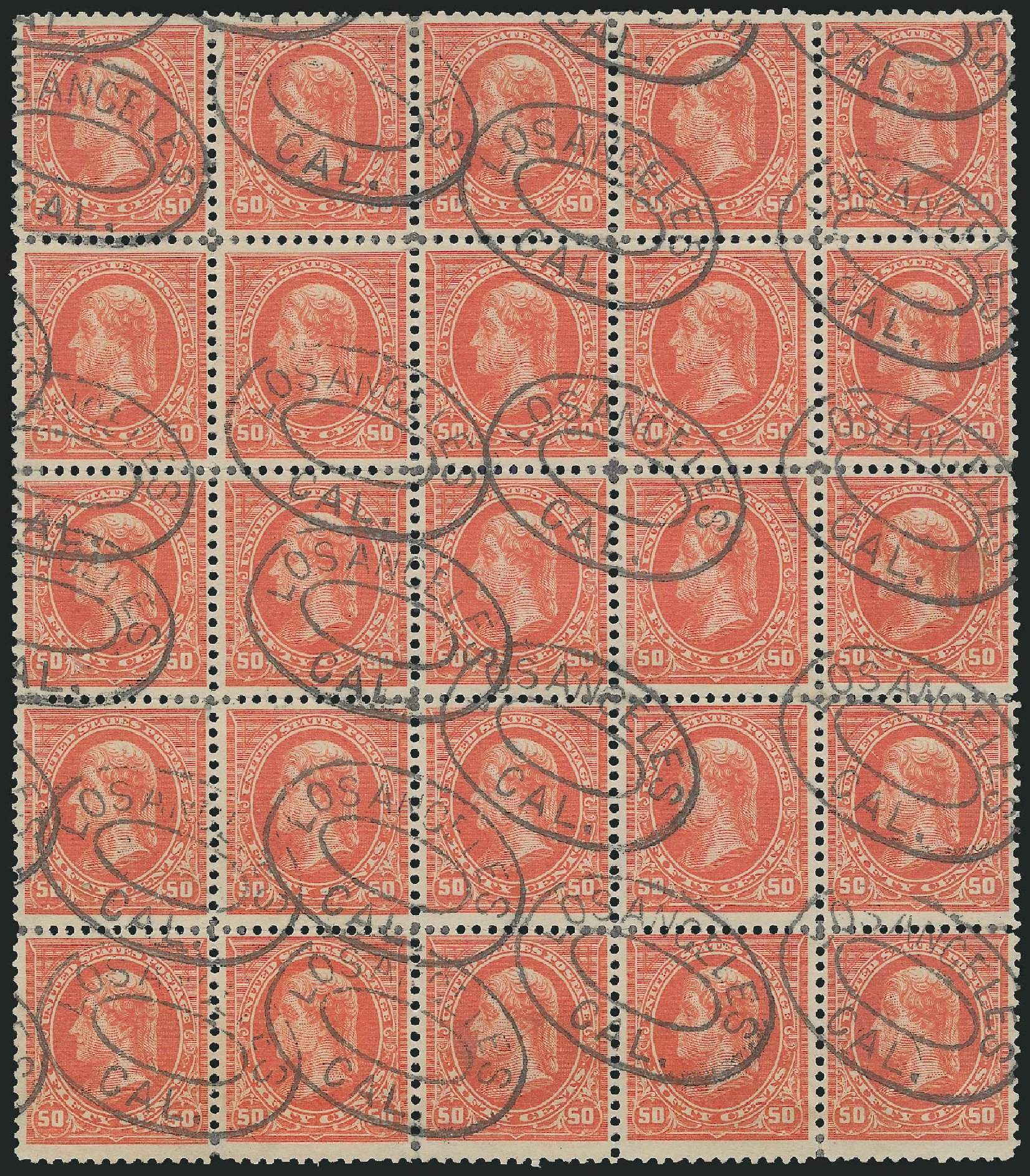 Costs of US Stamp Scott #275 - 50c 1895 Jefferson. Robert Siegel Auction Galleries, Nov 2014, Sale 1084, Lot 3621