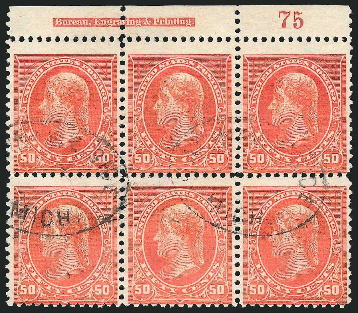 Value of US Stamp Scott Catalog # 275 - 50c 1895 Jefferson. Robert Siegel Auction Galleries, Nov 2014, Sale 1084, Lot 3622
