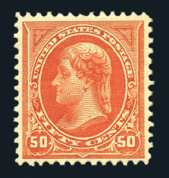US Stamps Values Scott Catalog #275: 1895 50c Jefferson. Harmer-Schau Auction Galleries, Aug 2015, Sale 106, Lot 1686