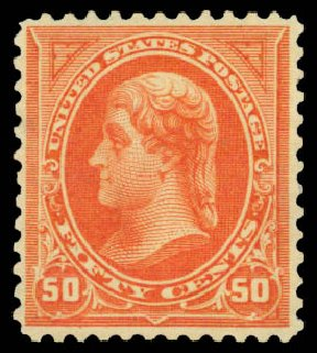 Cost of US Stamp Scott Catalog 275 - 50c 1895 Jefferson. Daniel Kelleher Auctions, Jan 2015, Sale 663, Lot 1536