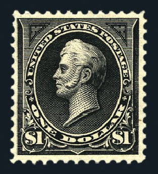 US Stamps Value Scott 276: US$1.00 1895 Perry. Harmer-Schau Auction Galleries, Aug 2015, Sale 106, Lot 1687