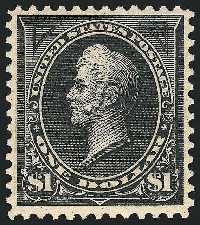 Values of US Stamp Scott Catalogue #276 - 1895 US$1.00 Perry. Robert Siegel Auction Galleries, Apr 2015, Sale 1096, Lot 479