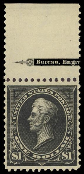 Values of US Stamp Scott Cat. #276: US$1.00 1895 Perry. Daniel Kelleher Auctions, Aug 2015, Sale 672, Lot 2550
