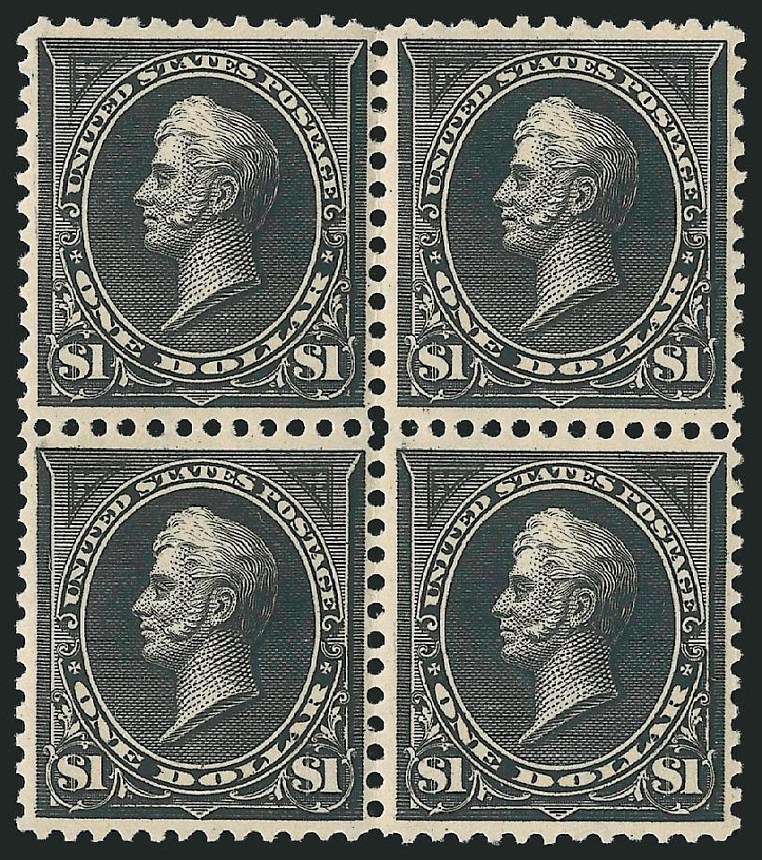 Price of US Stamps Scott Catalog 276 - 1895 US$1.00 Perry. Robert Siegel Auction Galleries, Apr 2015, Sale 1096, Lot 480