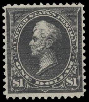 US Stamp Values Scott Cat. #276: US$1.00 1895 Perry. Daniel Kelleher Auctions, Aug 2015, Sale 672, Lot 2551