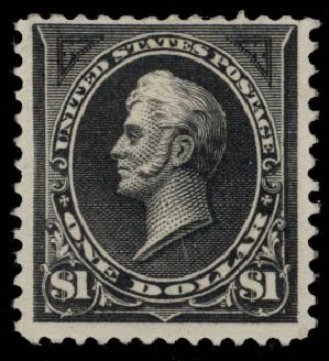 US Stamps Values Scott 276 - 1895 US$1.00 Perry. Daniel Kelleher Auctions, May 2015, Sale 669, Lot 2794