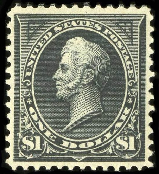 US Stamp Value Scott Catalogue #276: US$1.00 1895 Perry. Spink Shreves Galleries, Jul 2015, Sale 151, Lot 224