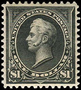 US Stamp Value Scott Catalogue # 276: US$1.00 1895 Perry. Regency-Superior, Aug 2015, Sale 112, Lot 555