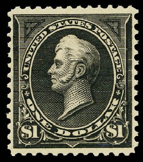 US Stamp Value Scott Catalog #276 - 1895 US$1.00 Perry. Daniel Kelleher Auctions, May 2015, Sale 669, Lot 2792