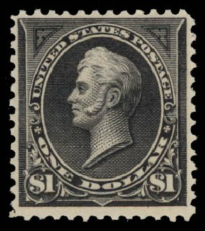 Cost of US Stamp Scott 276 - US$1.00 1895 Perry. Daniel Kelleher Auctions, May 2015, Sale 669, Lot 2793