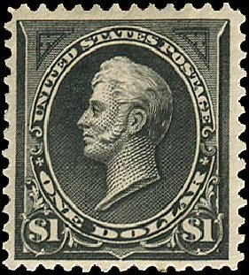 Values of US Stamp Scott Cat. #276: 1895 US$1.00 Perry. Regency-Superior, Aug 2015, Sale 112, Lot 556