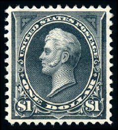 US Stamps Values Scott #276: 1895 US$1.00 Perry. Schuyler J. Rumsey Philatelic Auctions, Apr 2015, Sale 60, Lot 2266