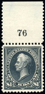 Value of US Stamps Scott Catalogue 276 - US$1.00 1895 Perry. Schuyler J. Rumsey Philatelic Auctions, Apr 2015, Sale 60, Lot 2756