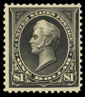 Value of US Stamps Scott 276A: US$1.00 1895 Perry. Daniel Kelleher Auctions, Mar 2014, Sale 650, Lot 2607