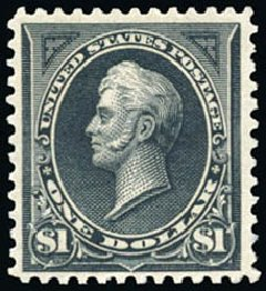 US Stamps Prices Scott #276A - 1895 US$1.00 Perry. Schuyler J. Rumsey Philatelic Auctions, Apr 2015, Sale 60, Lot 2267