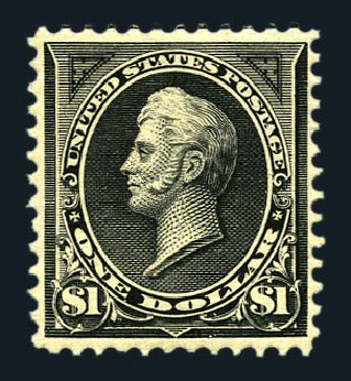 US Stamp Value Scott Catalog # 276A: US$1.00 1895 Perry. Harmer-Schau Auction Galleries, Aug 2015, Sale 106, Lot 1688