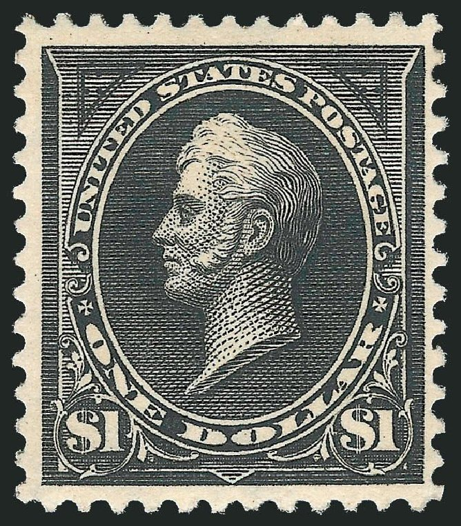 US Stamp Price Scott Catalog #276A - 1895 US$1.00 Perry. Robert Siegel Auction Galleries, Jul 2014, Sale 1077, Lot 198