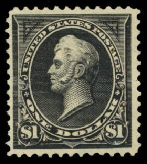 Values of US Stamps Scott Catalogue # 276A: 1895 US$1.00 Perry. Daniel Kelleher Auctions, Sep 2014, Sale 655, Lot 351