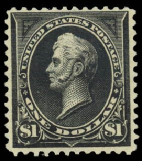 US Stamps Values Scott Catalogue # 276A - US$1.00 1895 Perry. Daniel Kelleher Auctions, Jan 2015, Sale 663, Lot 1541