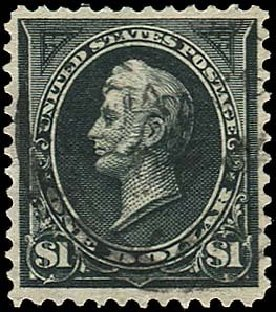 US Stamp Values Scott Catalogue 276A - US$1.00 1895 Perry. Regency-Superior, Nov 2014, Sale 108, Lot 561