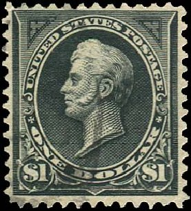 US Stamps Values Scott 276A - US$1.00 1895 Perry. Regency-Superior, Aug 2015, Sale 112, Lot 561