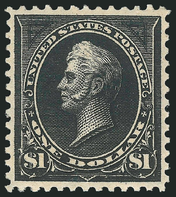 Cost of US Stamp Scott Cat. #276A: 1895 US$1.00 Perry. Robert Siegel Auction Galleries, Feb 2015, Sale 1092, Lot 1214