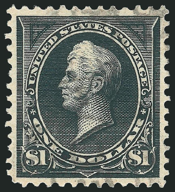 Cost of US Stamps Scott Cat. # 276A: 1895 US$1.00 Perry. Robert Siegel Auction Galleries, Apr 2015, Sale 1096, Lot 484