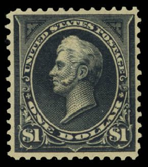 US Stamp Price Scott Catalog 276A: US$1.00 1895 Perry. Daniel Kelleher Auctions, May 2015, Sale 669, Lot 2795